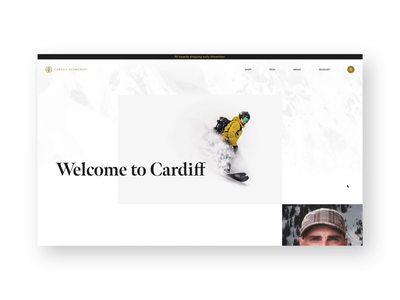 Cardiff Snowcraft About animation editorial snowboarding layout website ux ui ecommerce design