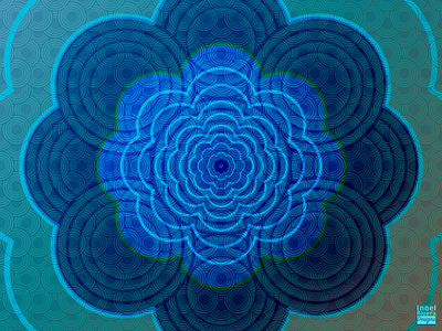 Concentric Flower Mandala patterns pattern design circle pattern geometric design geometric art mandalas mandala design