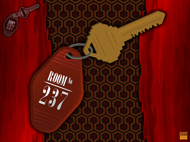 Infamous Movies: The Shining (Assets) rug pattern blood key figuros toys tricycle room 237 stephen king horror movie scary movies horror movies horror movie illustration the shining