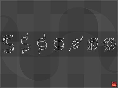 Letter Logo Transformations Outlines conceptual figuros illustrator vectores logotype design logotype designs logo design concept logos logo black  white black and white alphabet logo rebound
