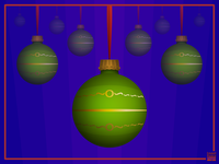 Green Christmas Bobbles