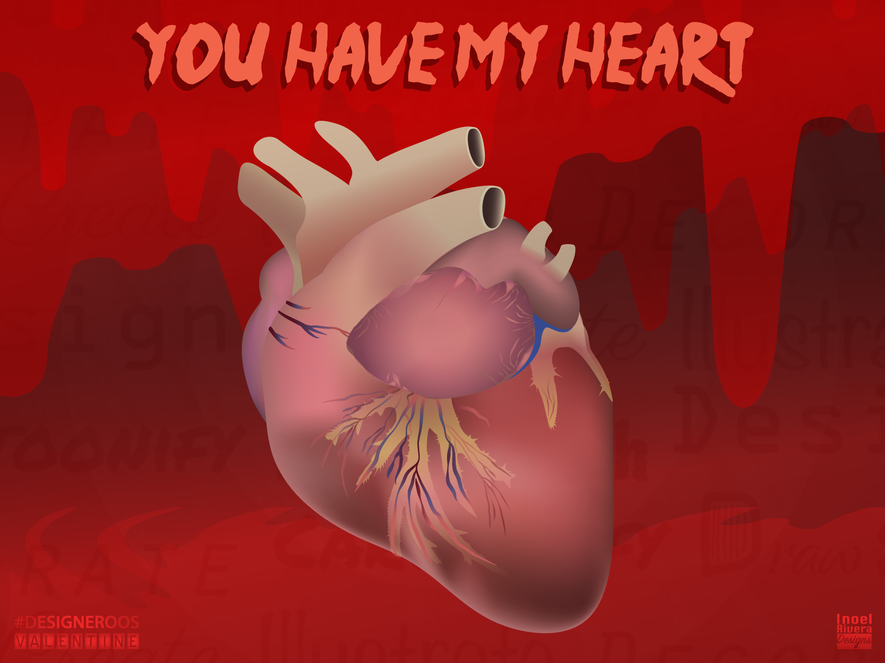 Heart valentine dribbble