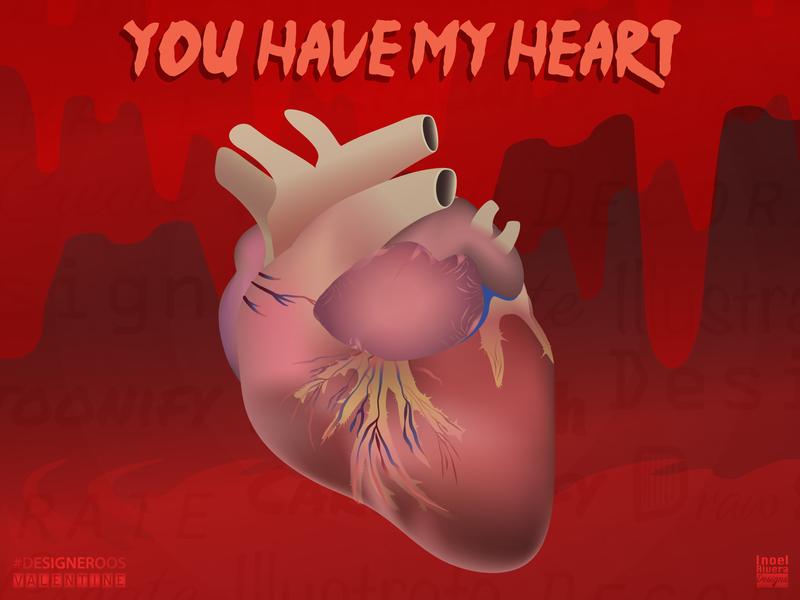 Anatomical Heart Valentine designeroos figuros design adobe illustrator valentines day card valentines day valentine card valentine illustrator vector artworks vector artwork vector art 3d 2d illustration heart anatomical