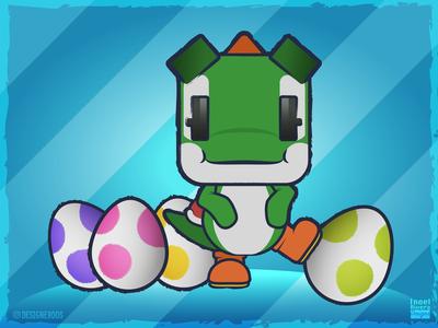 Yoshi's Crafted World - Green Yoshi & Eggs