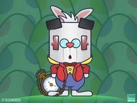 Famous Bunnies - The White Rabbit