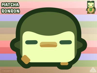 Matcha Bonbon! designeroos green cartoon character cartoons cartoon character design characters 2d character character 2d art 2d art kawaii art kawaii desserts dessert ice cream tea green tea matcha