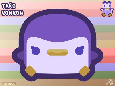 Taro Bonbon! kawaii cute designeroos figuros illustrator illustration cartooning art 2d character 2d art 2d designs design cartoon illustration cartoon character cartoons cartoon purple taro