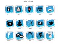 F I T . icon set fitness icon icon set app branding illustration