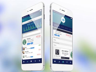 Online banking app vouchers coupons bills banking finance app design ux ui app