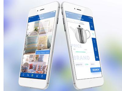 iShop minimum products shopping ecommerce app design ux ui app