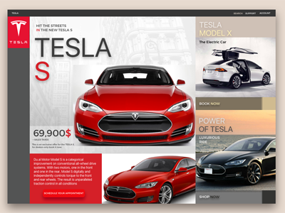 TESLA  S electric car tesla s cars minimum products shopping ecommerce app design ux ui app