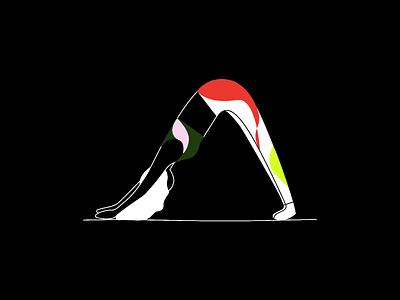 Yogo exploration yoga design branding illustration