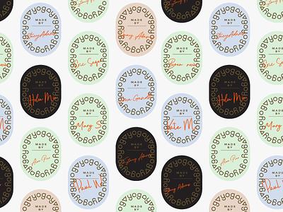 Yogo exploration branding label badge illustration