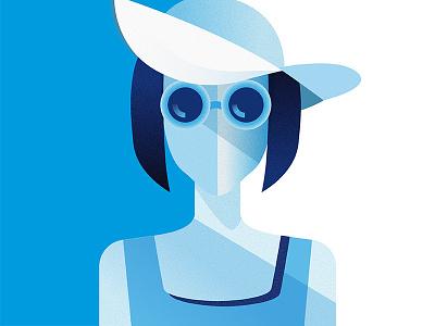 Sunglasses Girl Illustration illustration girl sunglasses