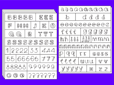 New Fonts process fonts for good process display typeface yoyo