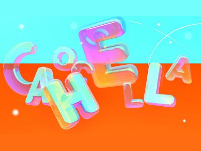 Coachella typography cinema 4d music festival coachella