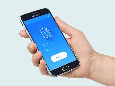Print by your phone screen ui phone digital printing