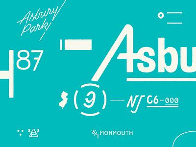 Asbury Park vector branding logo lettering texture typography graphic design