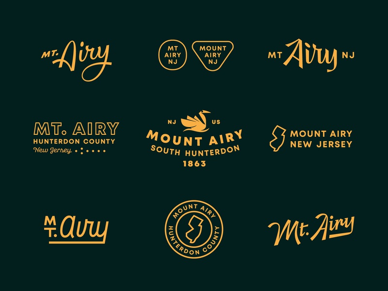 Mt. Airy Stuff graphic logo lettering typography design