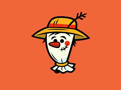 Scarecrow halloween graphic art illustration scarecrow