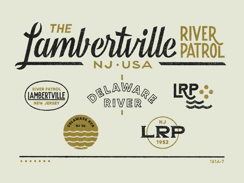 River Patrol graphic lettering typography design