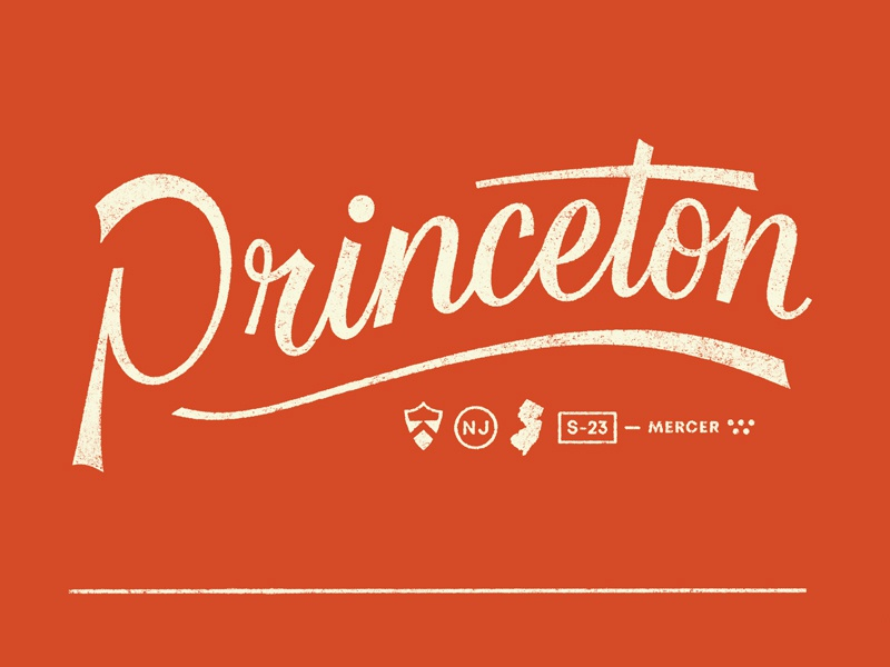 Princeton logo branding design lettering typography graphic