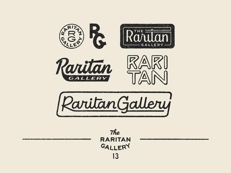 Raritan Gallery branding logo typography lettering graphic design