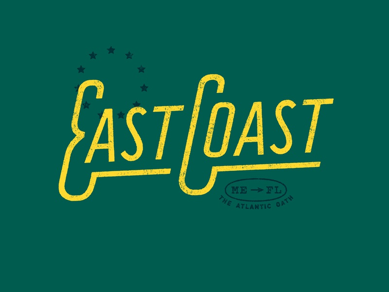 East Coast logo lettering typography graphic design