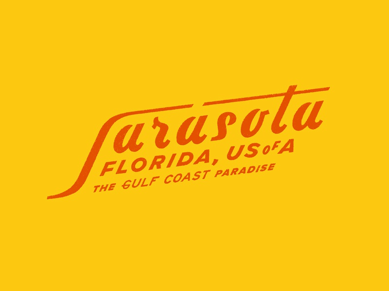 Sarasota Again branding logo print lettering typography graphic design