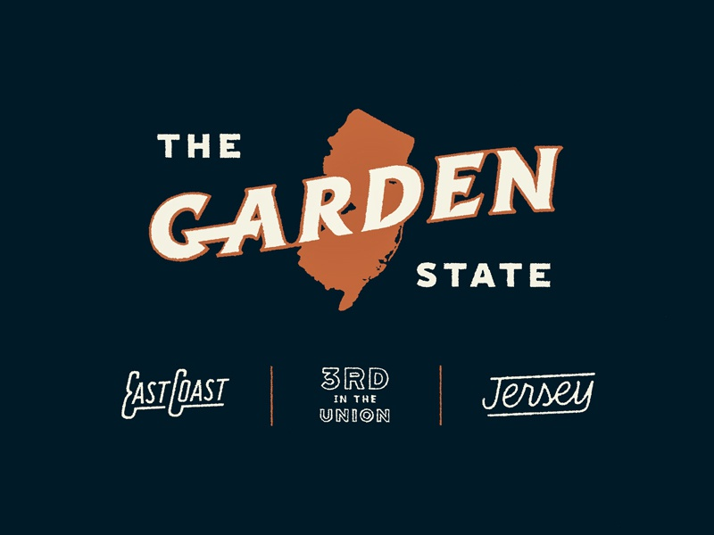 The Garden State branding logo lettering typography graphic design