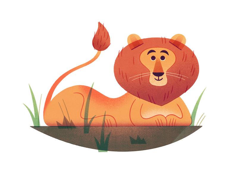 Lion lion art print texture graphic illustration