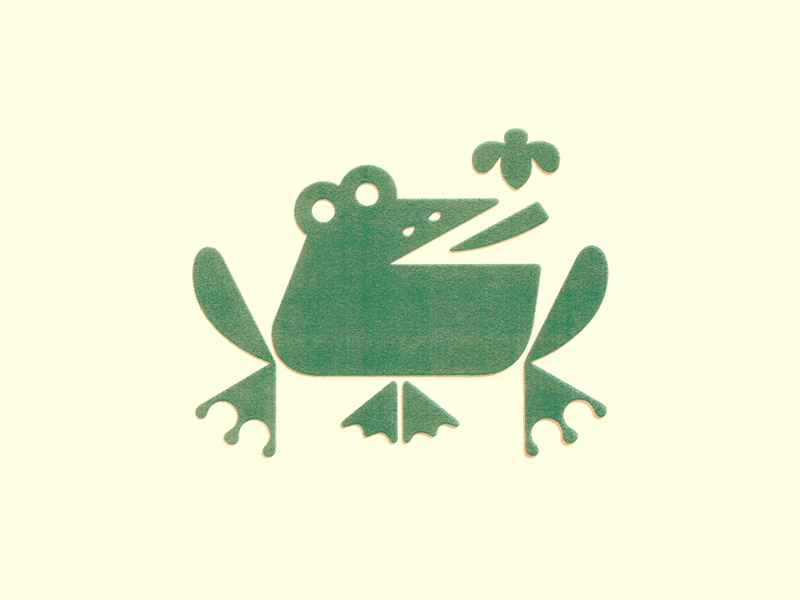Frog print texture graphic illustration design