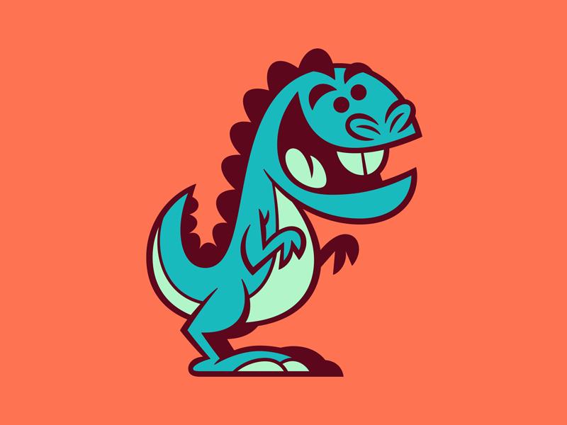 Dino vector illustration design