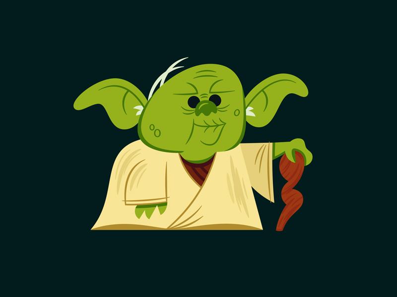 Yoda star wars illustration graphic