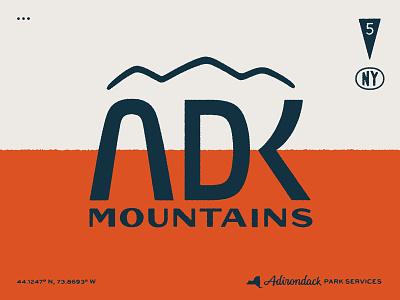 Adirondacks graphic lettering typography design