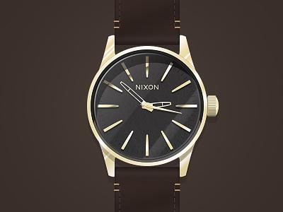 Nixon Sentry watch nixon sentry 38 rose gold gunmetal brown clock time