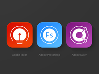 Adobe Products Icons for iOS 7