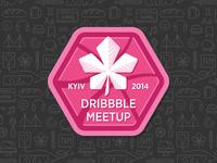 Dribbble Meetup Kyiv Logo