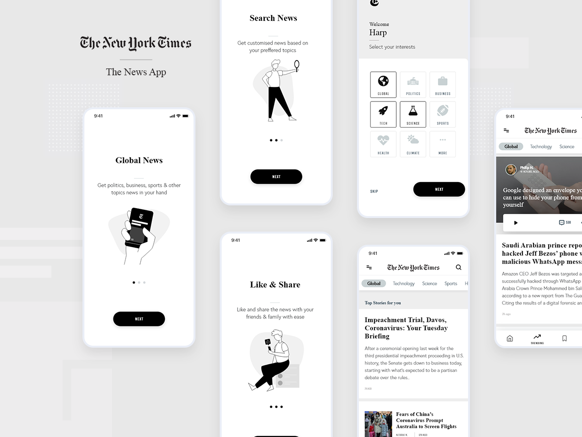 The New York Times App Redesign news mobile app