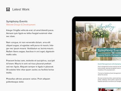 Latest Work ui website design latest work icon picture laptop mac symphony