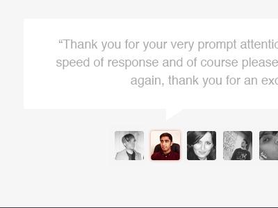 Kind Words From Happy Customers website ui clean testimonials feedback prekesh golden face