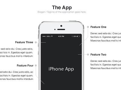 The App ui website web iphone mobile design feature showcase product demo