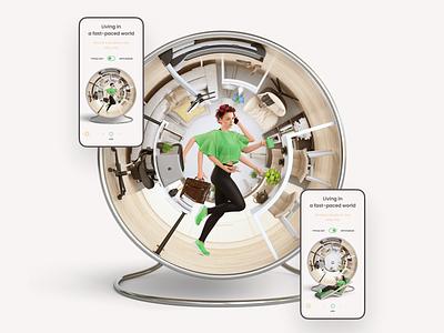 Squirrel in Wheel branding boldanic product site digital pharmacy pharma equium equium illustration ojo design ojoteam
