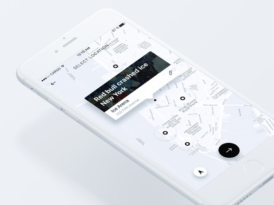 Map popup white minimal iphone ios event application app map