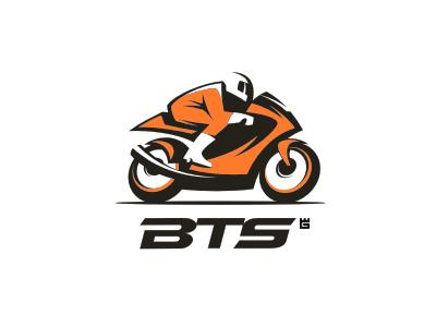 Bike teile service motorcycle bike sport logo vector transport internet biker trade mark identity letterpress