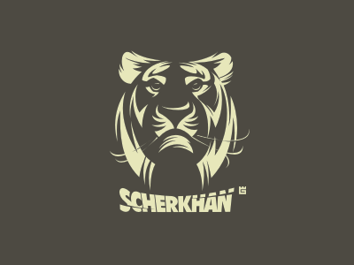 Logo Scherkhan tiger animals logo nature vector cat t-shirt illustration jungle mascot