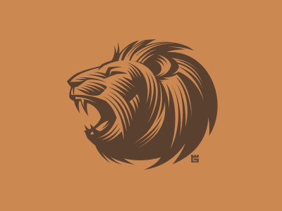 Lion logo vector illustration mascot t-shirt cat nature animals animal identity lion screen printing arms letterpress mark