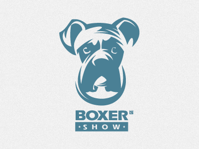 logo Boxer logo vector illustration dog animal vector icon illustration typography t-shirt star identity screen printing mark