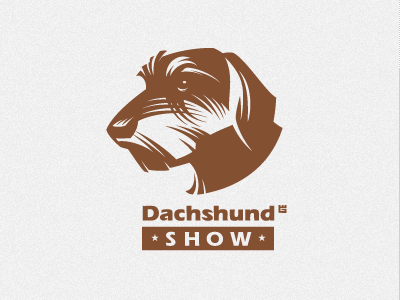 Logo dog logo illustration vector mascot star t-shirt brand animal identity dachshund screen printing letterpress
