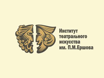 Logo of Theatre Institute logo illustration symbol mascot theater cinema vector arms